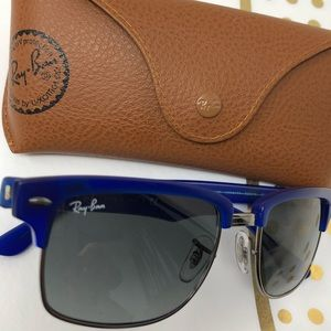Ray-Ban Shades ClubMaster Matte Blue NEW